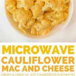 Delightful Repast: Microwave Cauliflower Cheese for One