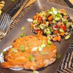 Microwave Miso Glazed Chicken and Vegetables