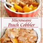 Microwave 3-Ingredient Peach Cobbler   Just Microwave It