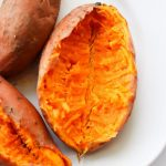 How to Cook Whole Sweet Potato in Microwave • Steamy Kitchen Recipes  Giveaways