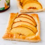 Mini Peach Puff Pastry Tarts with Honey - Fork Knife Swoon