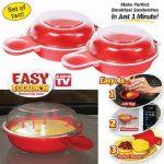 New! 2pcs/set Easy Egg wich Creative Microwave Egg Cooker 1 Minute Fast Egg  Maker ss1352|microwave egg cooker|egg makeregg cooker - AliExpress
