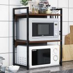 Home & Garden 2/3 Tier Multi-functional Kitchen Storage Shelf Rack Microwave  Oven Shelving UK Kitchen, Dining & Bar