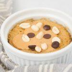 Healthy Peanut Butter Mug Cake - Single Serving Vegan Dessert