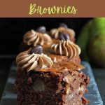 Autumn Pear and Walnut Brownies (gluten free) - Gluten Free Alchemist
