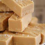 Microwave Salted Caramel Fudge   5 Ingredients - Bake Play Smile