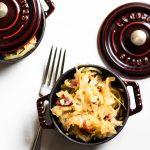 Easy Sautéed Cabbage, Sauerkraut, and Bacon | Abra's Kitchen