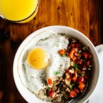 Savory Oatmeal with Cheddar and Fried Egg   Healthy Nibbles by Lisa Lin