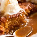 Super Easy Butterscotch Self Saucing Pudding - Bake Play Smile