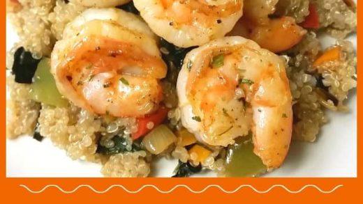 Shrimp Quinoa Veggie Bowl / The Grateful Girl Cooks!