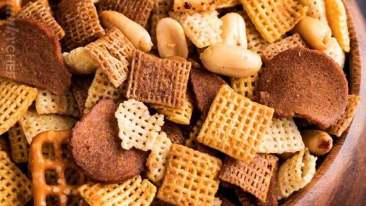 Slow Cooker Bold Chex Mix Recipe - The Chunky Chef