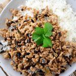 Simple Pork and Black Fungus Mince - Scruff & Steph