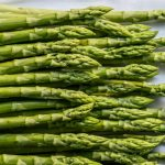 Asparagus salad with spring herbs & poached egg