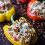 Stuffed peppers with ground beef and Portuguese chouriço | Photos & Food
