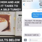 People Ask Parents How to Microwave 25-Pound Turkey in Thanksgiving Prank |  Fatherly