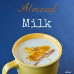 Homemade Turmeric Almond Milk