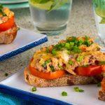 Keto Tuna Melt Recipe (Microwave Bread) | Healthy Recipes Blog