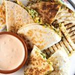 Creamy Vegan White Bean Quesadilla | With Smokey Chipotle Dip - Broke  foodies
