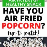Air Fryer Popcorn Recipe + Video! • Summer Yule Nutrition