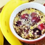 Blueberry Banana Microwave Baked Oats - Kim's Cravings