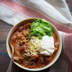 Vegetarian 3 Bean Chili Recipe - No Spoon Necessary