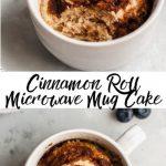 Cinnamon Roll Microwave Mug Cake Recipe {video} - Kim's Cravings