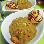 Microwave Apple Halwa with Almonds and Chia