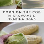 Slide the husk and silk off the corn on the cob | Corn in the microwave,  Cooking sweet corn, How to cook%20corn
