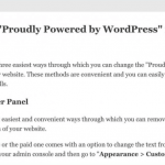 """How to Remove """"Proudly Powered by WordPress"""" from Footer"""
