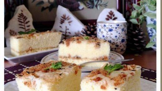 Meat Floss Steamed Sponge Cake (肉松鸡蛋糕)   Steam cake recipe, Steamed sponge  cake recipe, Steamed cake