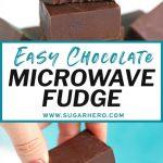 Easy Microwave Fudge - SugarHero