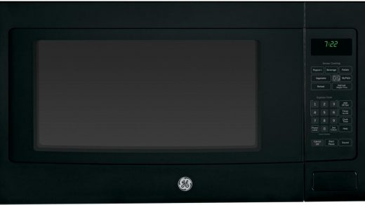 GE PEB7226DFBB 2.2 cu. ft. Countertop or Built-In Microwave Oven with  Control Lockout, Sensor Cooking Controls, Weight and Time Defrost,  Extra-Large Turntable, Instant On Controls, 1100 Watts, 10 Power Levels and  ADA