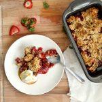 Spiced Plum Crisp - Mom On Timeout   Plum recipes, Plum crisp, Plum dessert