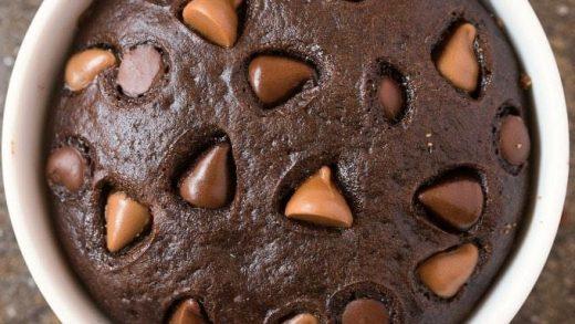 Healthy 4 Ingredient Flourless Chocolate Mug Cake (Paleo, Vegan, Gluten Free)  - The Big Man's World ®