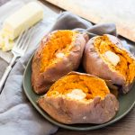 Skewered Roasted Sweet Potatoes - Foodness Gracious