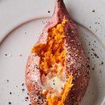 oven roasted sweet potato halves - Marin Mama Cooks