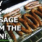 How do you cook beef sausage links?
