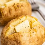Microwave Baked Potato - Baking Mischief