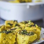 Instant Khaman Dhokla In Microwave/ Khaman Dhokla with Curd - Annapurnaz