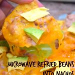 Microwave Refried Beans into Nachos | Just Microwave It