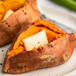 How to Make a Microwave Sweet Potato - Baking Mischief