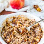 5-Minute Microwave Apple Crisp for One - Averie Cooks