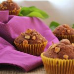 Gluten-free muffins, Teff flour, chocolate and nuts | WatUseeFoods