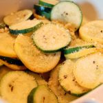 Parmesan Zucchini and Summer Squash in the Microwave - Eat at Home