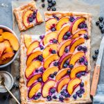 Sweet and simple peach puff pastry tarts tossed with wild honey and a hint  of vanilla. This easy summer… | Peach puff pastry, Puff pastry tart, Puff  pastry desserts