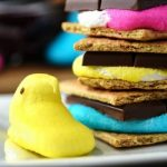 Microwave Peep S'mores - Pies and Plots