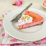 Eggless Baked Rose Cardamom Cheesecake – Cook with Rekha