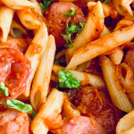 Easy and Quick Red Sauce Penne Pasta - Live & Love Life on a Budget