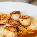 Pan Seared Scallops With Sweet Pea, Tarragon and Lemon Risotto - Spiced Up  Mom