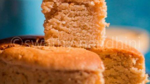 EGGLESS WHOLE WHEAT SPONGE CAKE RECIPE - SHRAVS KITCHEN